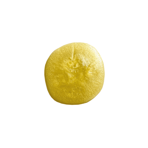 Texture of Yemanja elixir of youth, mustard yellow in color.