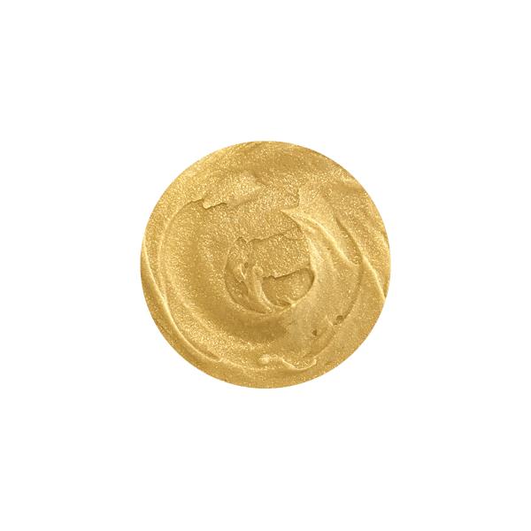 Texture du masque cheveux à la bière Djéronimo®, de couleur jaune moutarde.