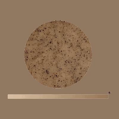 Die Textur der Yemanja Ausgleichsmaske, kaffeebraun.